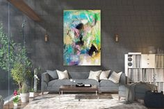 Large Abstract wall art,Original Abstract wall art,large art on canvas,xl abstract painting,abstract wall art Large Abstract Wall Art, Large Canvas Art, Large Painting, Painting Canvas, Abstract Canvas, Textured Painting, Knife Painting, Bright Paintings, Abstract Paintings