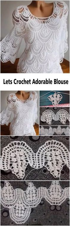Fabulous Crochet a Little Black Crochet Dress Ideas. Georgeous Crochet a Little Black Crochet Dress Ideas. Crochet Motifs, Crochet Flower Patterns, Crochet Lace, Crochet Stitches, Crochet Blouse, Crochet Bodycon Dresses, Sewing Patterns, Knitting Patterns, Crochet Woman