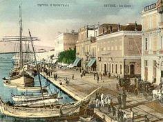 Izmir in the past Street Art, Street View, Greek History, Seven Wonders, Gravure, Old Photos, Seaside, Paris Skyline, Istanbul