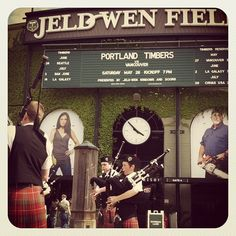 Portland Timbers vs Vancouver. Bagpipes outside the gate. #RCTID