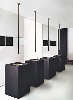 New Bathroom Fixture Designs from Gessi - unusual ceiling mounted sink faucet with remote control and more ...