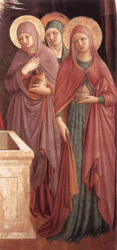 Benozzo Gozzoli c. 1440-1441 - Women at the Tomb detail   #TuscanyAgriturismoGiratola