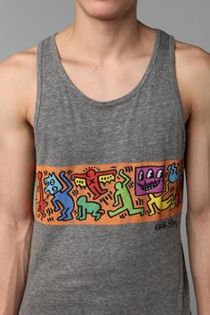 c0b3ef53e96296 Keith Haring pop graffiti art... couple this with a cardigan.