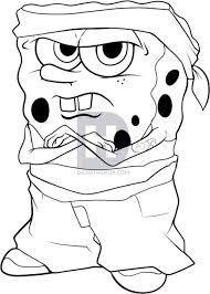 Gangster spongebob coloring pages Spongebob Tattoo, Spongebob Drawings, Cartoon Drawings, Gangster Drawings, Badass Drawings, Ed O'neill, Graffiti Alphabet Fonts, Spongebob Coloring, Love Coloring Pages