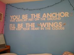 Tattoo idea.. Anchor on my foot a d wings for Sam somewhere lol