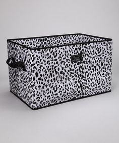 Take a look at this Leopard Noir Junque Trunk Storage Bin by Scout by Bungalow on #zulily today!