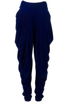 Cowled dhoti pants by PAYAL PRATAB. Shop now at perniaspopupshop.com