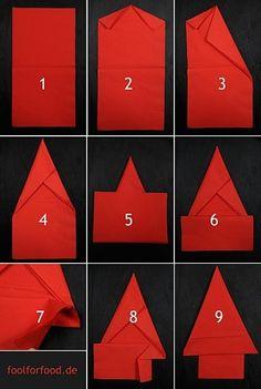 The Christmas Tree Napkin | 28 Creative Napkin-Folding Techniques