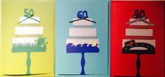"Birthday Cards ""50/60/70"" Birthday Cards, Frame, Handmade, Decor, Bday Cards, Picture Frame, Hand Made, Decoration, Birthday Greetings"