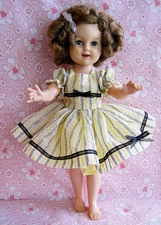 Vintage Shirley Temple Doll - New Dress