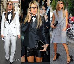 Anna Dello Russo In Gucci, Dsquared² & Celine - Milan Fashion Week Day 1