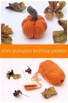 Knitted Pumpkin Pattern Make a mini pumpkin in time for all with this free knitting pattern. The pumpkin uses basic knitting stitches and requires some stitching to close. Stocking Stitch Knitting, Easy Knitting, Knitting For Beginners, Knitting Stitches, Knitting Looms, Free Knitting Patterns For Women, Crochet Patterns, Halloween Knitting Patterns Free, Free Pumpkin Patterns