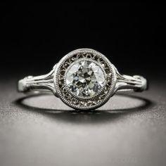 Edwardian .50 Carat Diamond Platinum Solitaire - Vintage Engagement Rings