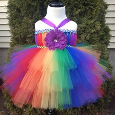 Rainbow tutu dress baby to toddler flower girl by TheFabuTutu, $35.00