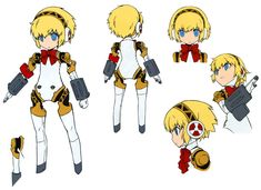 Aigis Concept from Persona Q: Shadow of the Labyrinth
