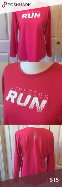 Pink UA Athletes Run Tee Long sleeve tee. Heat gear. Under Armour Tops Tees - Long Sleeve