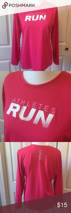 Pink UA Athletes Run Tee Long sleeve tee. Heat gear. Under Armour Tops Tees - Long Sleeve
