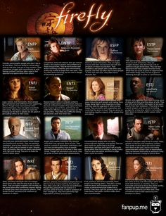 Big Damn Personality Chart: What Firefly/Serenity Character are you? [fanpup.me] #mbti