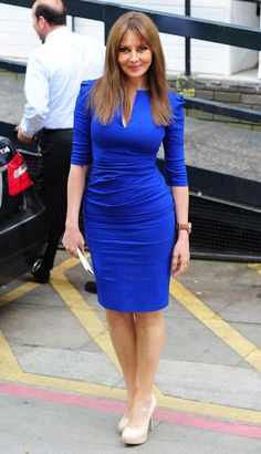 Carol Vorderman wears Beautiful Blue Dress. | Beautiful outfits ...