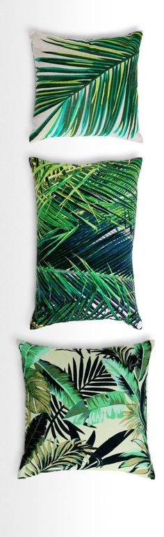 Update your scatter cushions with a luscious, leafy vibe. Jangala has the tropical flair of a palm house or conservatory, in bright, rich colours and textures. Available in velvet and embroidery. From MADE. Interior Tropical, Tropical Decor, Tropical Prints, Tropical Bedrooms, Tropical Houses, Jungle Bedroom, Scatter Cushions, Chair Cushions, Outdoor Cushions