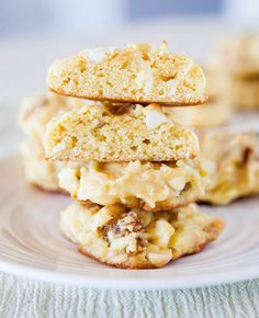 Pina Colada White Chocolate Cake Mix Cookies. Soft, moist, chewy, foolproof. Small batch recipe/1 dozen