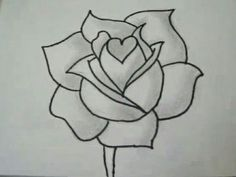 Draw of a flower