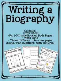Writing a Biography from pressk00 on TeachersNotebook.com -  (10 pages)  - Writing A Biography of a Peer *Includes interview worksheet