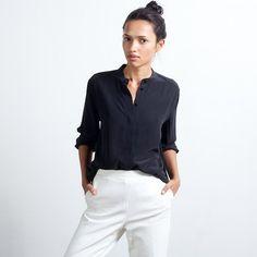 Staple Item: Black Silk Blouse