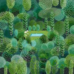 Bellasecretgarden — (via Landscape Illustrations That'll Make You...