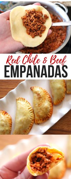 New Mexican Red Chile and Beef Empanadas