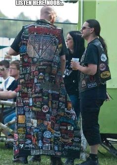 Being in the crypto community reminds me of being in the metal community. If your coin investments were a patch you wore on your metal armor this is what some of you would look like. Check us out at Blue Collar Crypto FB Group! Metal Memes, Hard Rock, Rasengan Vs Chidori, Battle Jacket, Combat Jacket, Cosplay Anime, My Sun And Stars, Band Memes, Metalhead