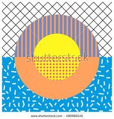 Circle memphis design. Graphic background