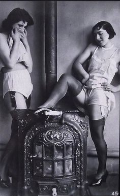 Feeling Hot Hot Hot! 1920s risque postcard from my collection