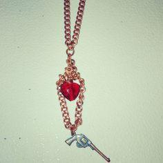 Fancy copper revolver and heart necklace #copper #revolver #heart #red #necklace #2A #secondamendment #girlsandguns #pewpew #gunjewelry #guns #westernstyle #texasgirl #texasstyle #madeintexas #texas #denton #dallas #fortworth #austin #atx #dfw #texasartist #tx #amandanancedesigns #smallbusiness #customjewelry #handmadejewelry