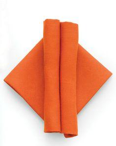 Napkin folding techniques.