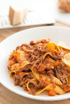 Lean Slow Cooker Beef Ragu with Pappardelle