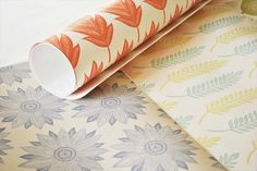 Adorn your walls with radiant pattern. Wallpapers by Kiran Ravilious.