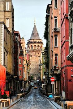 Galata Tower, in Galata, Istanbul, Turkey   One of the most beautiful cities in the world.