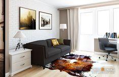 дизайн гостиной, интерьер гостиной, современная гостиная, светлый цвет гостиной, элементы лофта, современная гостиная с элементами лофта, студия Антона Печеного, студия дизайна интерьера Антона Печёного