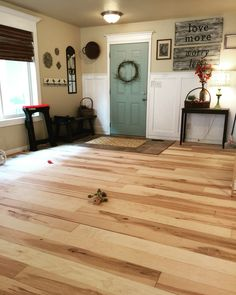 Maple plywood floor.