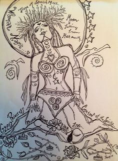 GYPSY PRIESTESS pen and ink illustration by DreamALittleDesigns Goddess Art, Illustration, Nature Art, Female Art, Art, Ink, Priestess, Coloring Pages, Ink Illustrations