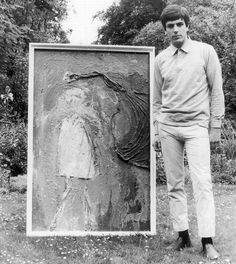 Syd Barrett Family Photos. 1965, Syd with painting