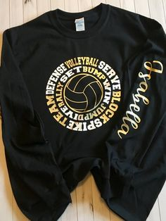 Multiple colors available. Please include name in message with purchase. If you would like a different color vinyl than teal and white, please include in your notes. All personalized items are non-returnable. Volleyball Team Shirts, Volleyball Shirt Designs, Volleyball Serve, Volleyball Sweatshirts, Basketball Cheers, Volleyball Outfits, Volleyball Drills, Volleyball Quotes, Coaching Volleyball