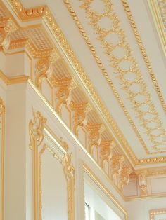 Ornate cornice by Foster Reeve & Associates