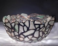 Memories in a Bowl: ~ by Julie - Sydney, Australia I am an artist that has been collecting sea glass for some time.  Last year I began studying leadlight making and