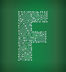 Letter Y Circuit Board on White Background vector art illustration ...