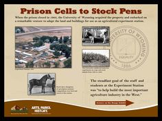 Information on the agricultural use of the Wyoming Territorial Prison by the University of Wyoming
