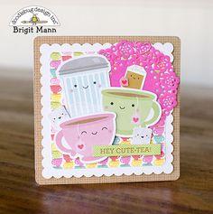 "Brigit's Scraps ""Where Scraps Become Treasures"": Cream & Sugar Cards - Doodlebug Design Team Project Scrapbook Paper Crafts, Scrapbook Cards, Scrapbooking, Scrapbook Albums, Decorative Paper Crafts, Chocolate Card, Coffee Cards, Cream And Sugar, Card Sketches"