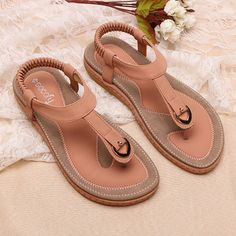 2c07f9770ecb Socofy Comfortable Elastic Clip Toe Flat Beach Sandals is comfortable to  wear. Shop on NewChic to see other cheap women sandals on sale Mobile.
