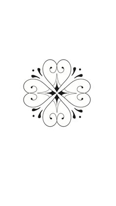 Four leaf clover tattoo design